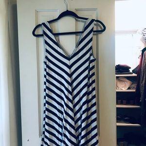 Loft Stripe Swing Dress - only worn once!